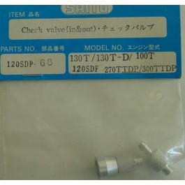 CHECK VALVE(IN&OUT) 120SDP  4 Saito Spare Parts