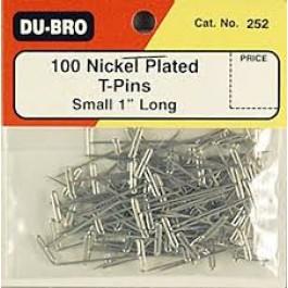 Τηλεκατευθυνόμενα αεροπλάνα, Du-Bro 252 1in NICKEL PLATED T-PINS (100)