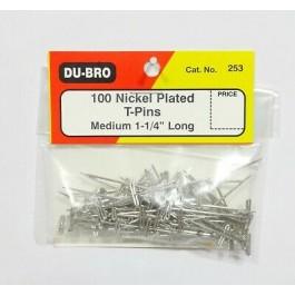Τηλεκατευθυνόμενα αεροπλάνα, Du-Bro 253 1 1/4in NICKEL PLATED T-PINS (100)