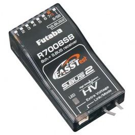 Futaba τηλεκατευθύνσεις, οκτακάναλος δέκτης R7008SB FASSTest, S.BUS2, High Voltage, με τηλεμετρία