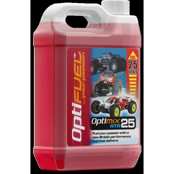 Radio control cars, OPTIFUEL, OPTIMIX RTR 25% Nitro fuel, with 16% Klotz synthetic oil, 2.5liters