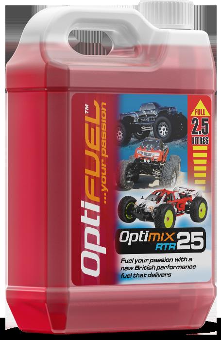 OPTIMIX RTR 25/% NITRO FUEL 2.5 LITRE RC CAR FUEL NITRO TRUCK